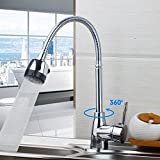 Inchant Single Handle Single Hole Polished Chrome Flexible Pull Down Spray Kitchen Sink Faucet Deck Mount Basin kitchen Mixer Tap