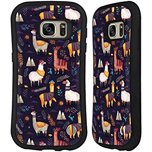 Official Oilikki Llamas Animal Patterns Hybrid Case for Samsung Galaxy S7 Sales