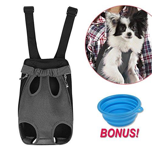 [해외]개 캐리어 | /Dog Carrier | Comfortable Legs Out Front Dog Carrier Backpack | Travel Dog Cat Pet Bag for Travel Cycling with Adjustable Shoulder Strap and Inner Collar | Vibrant Blue, XL