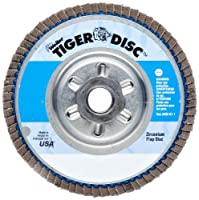 Weiler Tiger Abrasive Flap Disc, Type 29, Round Hole, Aluminum Backing,