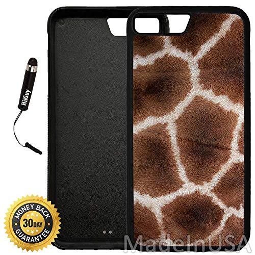 (Custom iPhone 7 Plus Case (Giraffe Skin Print) Edge-to-Edge Rubber Black Cover Ultra Slim   Lightweight   Includes Stylus Pen by)