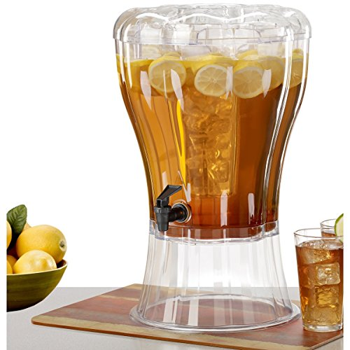 Buddeez Unbreakable 3-1/2-Gallon Beverage Dispenser with Removable Ice-Cone (Clear Drink Dispenser compare prices)
