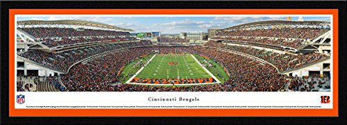 Cincinnati Bengals - End Zone - Blakeway Panoramas NFL Posters with Select Frame