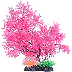 UEETEK Aquarium Decorative Plastic Plant Artificial Stand Fish Tank Aquarium Landscape Decor Plant Trees Ornament (T903)
