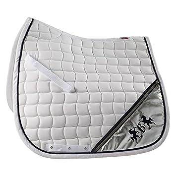 Horze Tapis De Dressage Lexington B Vertigo Blanc Cheval Amazon Fr