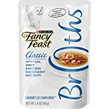Purina Fancy Feast Broth Wet Cat Food Complement, Broths With Tuna, Shrimp & Whitefish - (16) 1.4 oz. Pouches