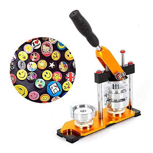 Button Maker Machine, DIY 75mm(2 95'') Badge Maker Machine Rotate Button  Badge Maker Punch Press Machine with 100Pcs Buttons Bags Button Machine  Badge