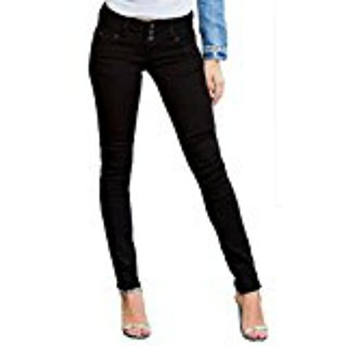 YMI Junior's Wannabettabutt Triple-Button Skinny Jean