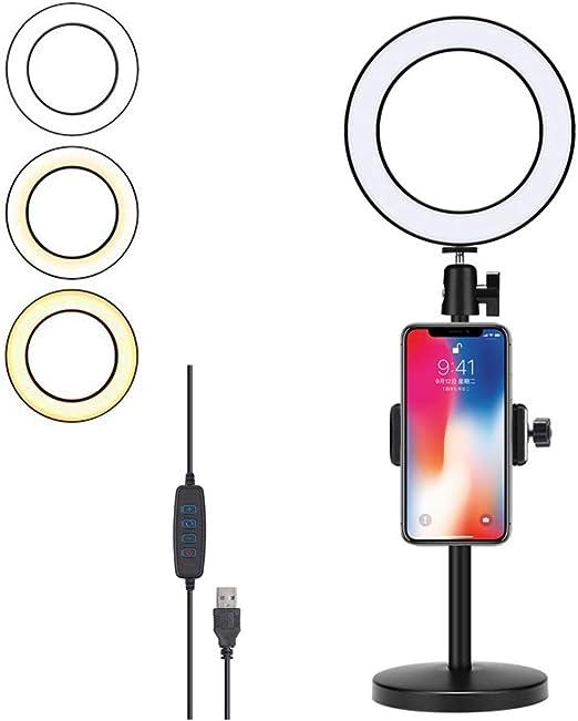 Anillo de Luz LED, Ring Light Regulable 6.3