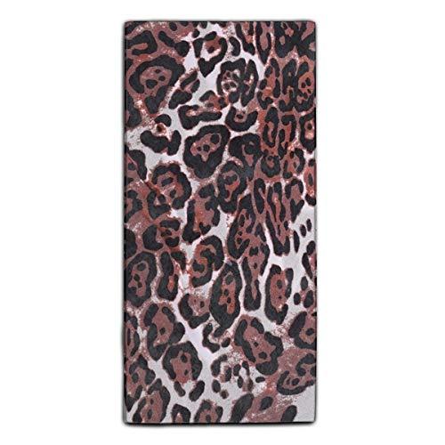 Highly Absorbent Towel Leopard Cheetah Brown Paper Scrapbook Microfiber Fiber Reactive Printed Kitchen Dish Towel 11.8 × 27.5