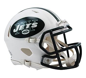 af8d0c3ecea OFFICIAL NFL NEW YORK JETS MINI SPEED AMERICAN FOOTBALL HELMET BY RIDDELL
