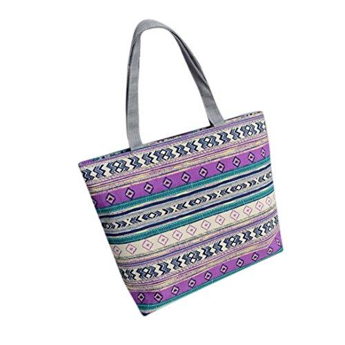 Shoulder Multifunctional Girl Simple Shoulder Bag Green Canvas Hand Print Luoluoluo Canvas Handbag Shopping FI08nqAd