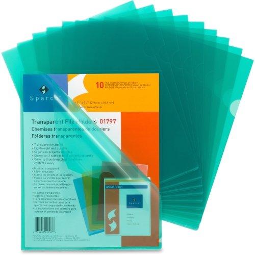 - Sparco Transparent File Holder - Letter - 11