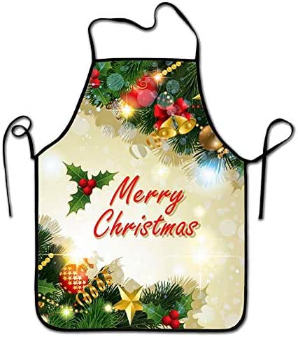 Amuseds mua-obagi-Giang-Sinh-rinh-nhieu-khuyen-mai Holiday Apron for Kitchen BBQ Barbecue Cooking Gardening Durable and Great Gift Uniform Code Suit for Men Women Creative Design Bib
