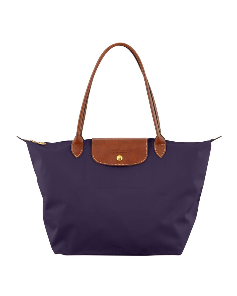 Longchamp Le Pliage Large Shoulder Tote Bag (Bilberry)