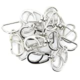 10Pcs 360° Swivel Trigger Snap Hooks Silver 30mm x 45mm Used for Key Chains / Small Dog Leashes / Hanging Crafts or Decorations / Beading Projects