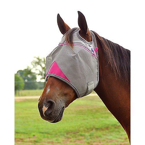 Cashel Crusader Standard Fly Mask with Pink Trim, Benefits Breast Cancer - Size: -