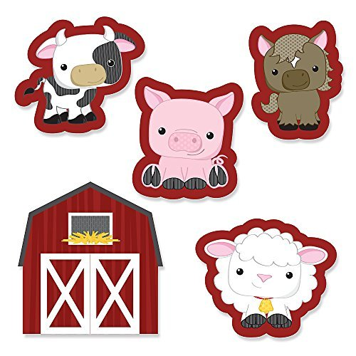 Pig Cut Outs - Farm Animals - DIY Shaped Baby Shower or Birthday Party Cut-Outs - 24 Count