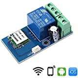 WHDTS WiFi Relay Delay Switch Module Self-Lock Latching Mode Low Power Smart Home Remote Control DC 12V Compatible with iOS Andriod APP 2G/3G/4G Network