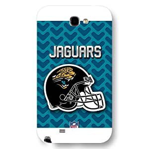 UniqueBox Customized NFL Series Case for Samsung Galaxy Note 2, NFL Team Jacksonville Jaguars Logo Samsung Galaxy Note 2 Case, Only Fit for Samsung Galaxy Note 2 (White Frosted Shell)