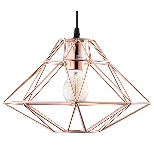Light Society Wellington Geometric Pendant Light, Rose Gold, Modern Industrial Lighting Fixture (LS-C137) (Wellingtons Light)