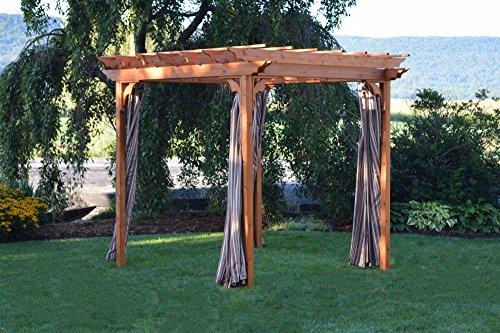 A & L Furniture Sundown Agora Pergola Curtains, 6' x 8', Light Blue by A&L Furniture Co.