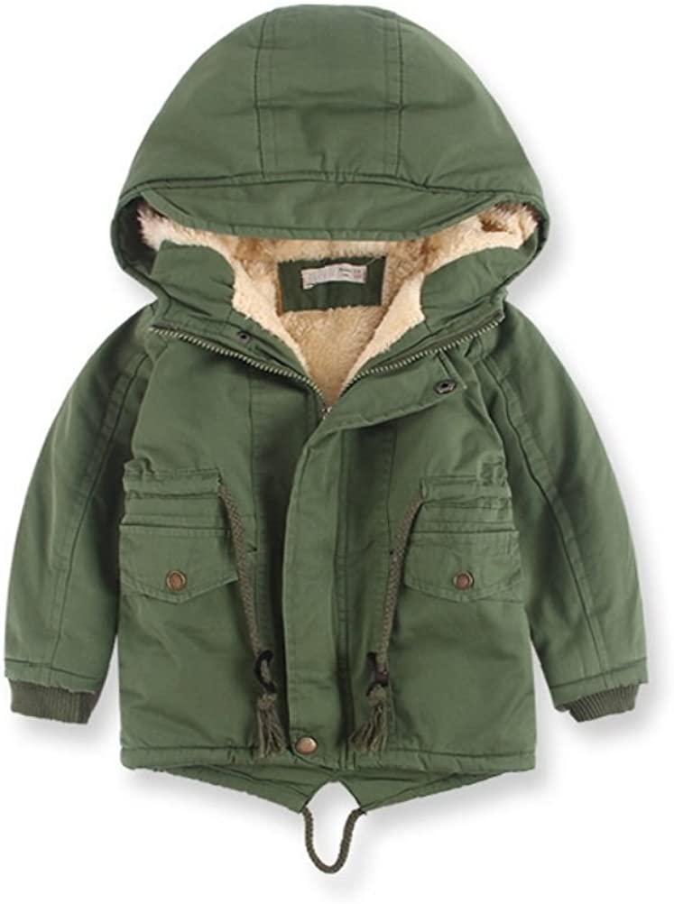 Winter Coat for Baby Girl Winter Hooded Trench Winter Coat for Baby Boy