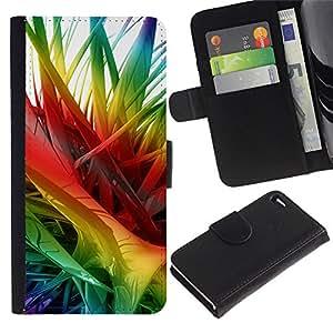 EJOY---Tirón de la caja Cartera de cuero con ranuras para tarjetas / Apple Iphone 4 / 4S / --Colores 2