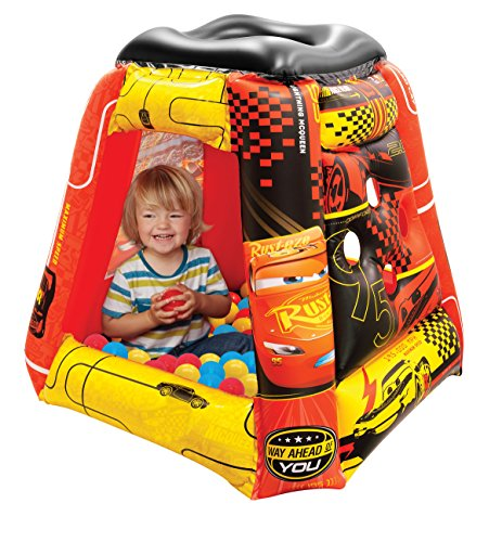 """Cars 3 Ball Pit, 1 Inflatable & 20 Sof-Flex Balls, Red, 37""""W"""