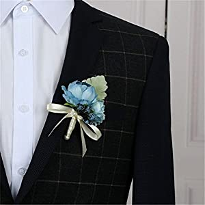 Artificial Peony Flowers Groom Boutonniere Man Suit Pin Bride Wrist Corsage Hand Wedding Flowers Decoration 77