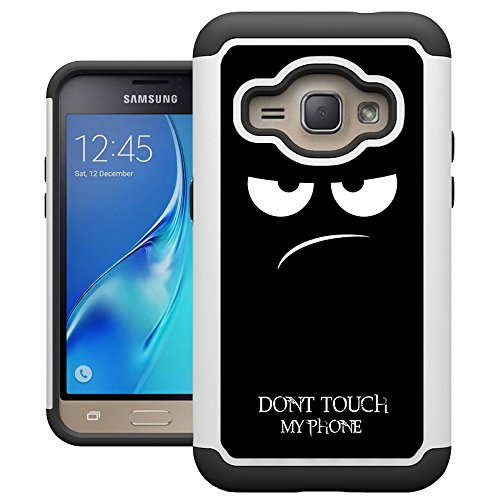 J1 2016 Case, Galaxy Amp 2 Case, Galaxy Express 3 Case, UrSpeedtekLive [Drop Protection] Dual Layer Hybrid Defender Phone Cover Case for Samsung Galaxy J1 (2016)/Express 3/Amp 2 - Dont Touch