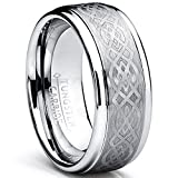 8MM Men's Tungsten Carbide Ring with Celtic Design size 9