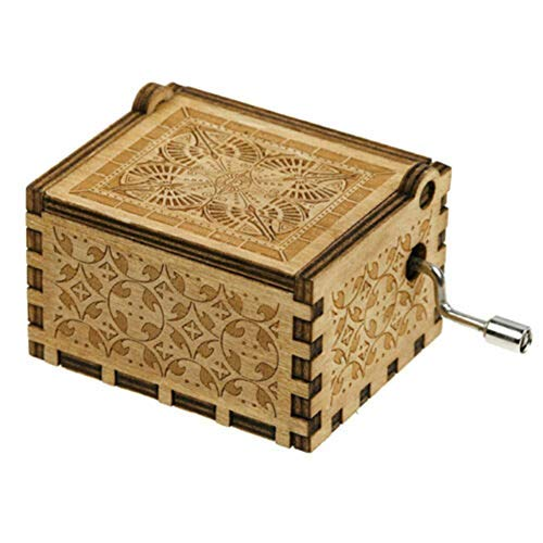 Pure Hand-Classical Creative Wooden Music Box Home Decoration Crafts Reuvv Music Box To My Wife Engraved Wood Music Box Anniversary Valentines Gifts