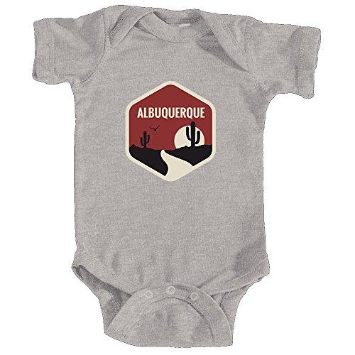 Tenn Street Goods Albuquerque, New Mexico Southwest Badge - Infant Onesie/Bodysuit (NB, Heather (Albuquerque New Mexico Street)