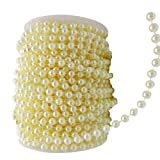 10 mm Large Ivory Pearls Faux Crystal Beads by the Roll for Flowers Wedding Party Decoration