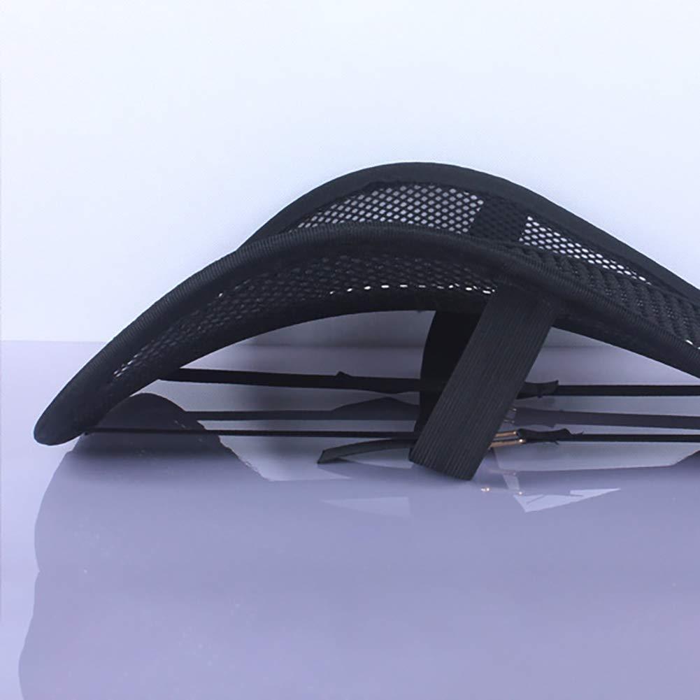 Pannow silla de oficina Soporte lumbar para respaldo de asiento de coche con doble capa de malla para asiento de coche