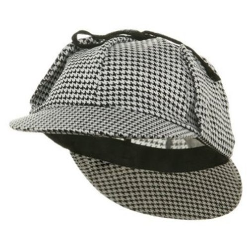 Sherlock Holmes Hat(color black/white) (Sherlock Holmes And Watson Costumes)