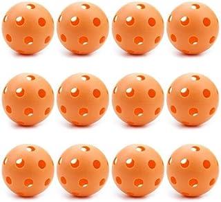 12 Orange Poly Baseballs (Regulation Size) by Crown Sporting Goods
