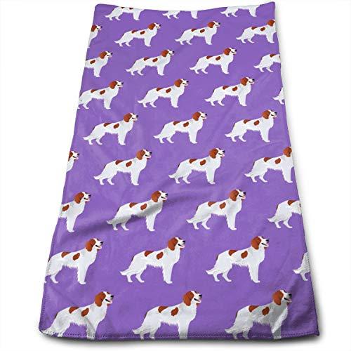Irish Red And White Setter Dog Cute Pattern Microfiber Multi-Purpose Towel Bath Towels Hand Towels Washcloth Towels Bathroom Towels - Great Shower Towels, Hotel Towels & Gym Towels 12