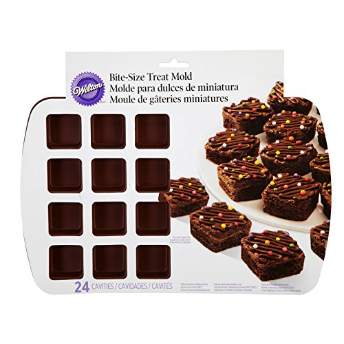 Wilton Bite-Size Brownie Square Silicone Mold, 24-Cavity by Wilton (Image #1)
