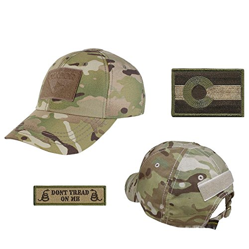 US State Operator Cap Bundle - With State & Dont Tread On Me Patches - Colorado