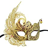 Red Gold Swan Filigree Luxury Venetian Masquerade Mask