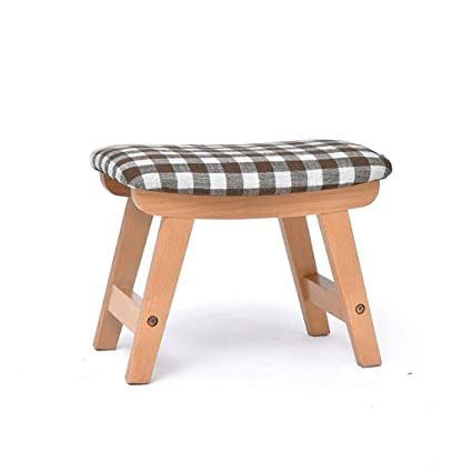 Merveilleux Home Furniture Footstools Wooden Footstool, Small Shoe Bench,Feet Stool  With Soft Detachable Cushion