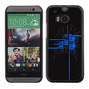 LECELL -- Funda protectora / Cubierta / Piel For HTC One M8 -- Justice At Any Cost --