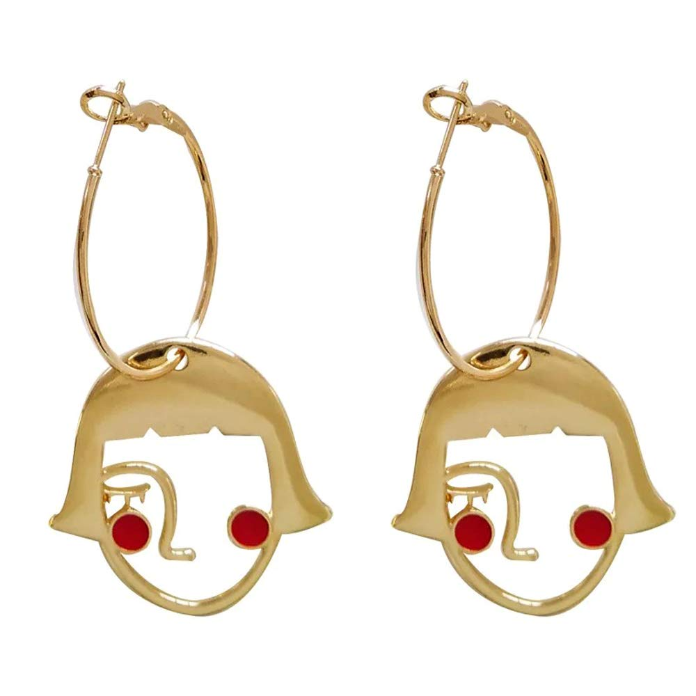 DIDA Girl face Earrings Shy Girl Cute Earrings