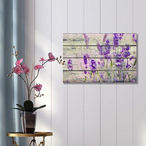 Retro Style Purple Flowers on Vintage Wood Background Rustic ation