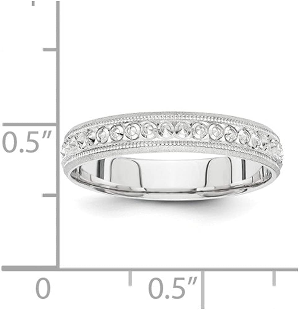 10k White Gold 3mm Wedding Band Ring Fine Jewelry Ideal Gifts For Women
