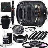 Nikon AF-S DX Micro-NIKKOR 40mm f/2.8G Lens + 52mm 3 Piece Filter Set (UV, CPL, FL) + 52mm +1 +2 +4 +10 Close-Up Macro Filter Set with Pouch + Lens Cap + Lens Hood + Lens Cleaning Pen Bundle