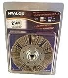 Dico Products 7200075/4.5'' gray Nyalox Wheel brush, 4.5'', Gray