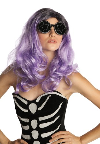 [Rubie's Costume Deluxe Fame Monster Wig, Purple, One Size] (Gaga Judas Costume)